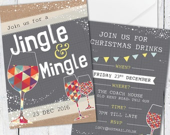 Personalised Christmas Party Invites