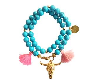 hippie bracelet boho bohemian peace pear warpbracelet hippiejewellry gypsy armcandy festival naturalstonebeads bull