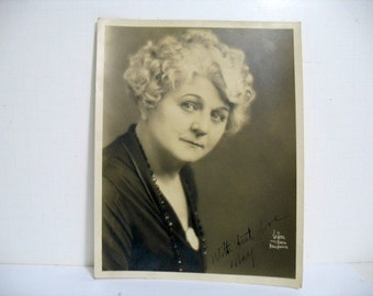 Witzel Photograph of May Mcavoy Hollywood Silent Movie Star Signed by May Mcavoy Ben-Hur Jazz Singer
