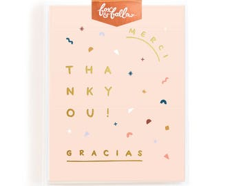 Merci Gracias Thank You Greeting Card Boxed Set