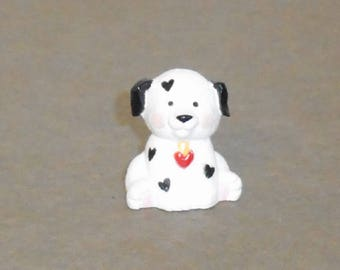 Merry Miniatures 1992 Dalmation Puppy with Red Heart on His Chest