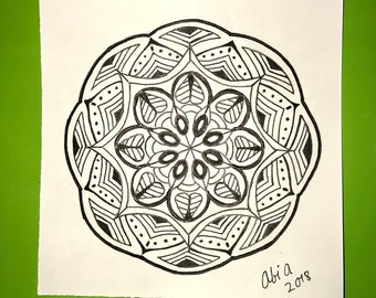 Handmade Mandala Drawing