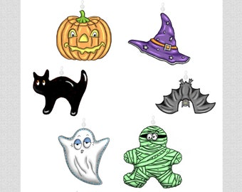 Halloween Mix... Bling Charms Ornaments....Set of 12