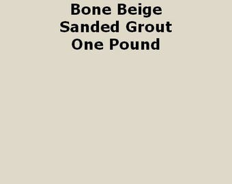 Bone Beige SANDED Grout - 1 Pound for Walls, Floors, Counter Tops, Backsplashes, Tubs, Showers, Mosaics