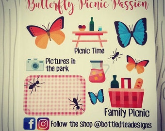 Butterfly Picnic Passion // Monthly Freebie // Item #FB020