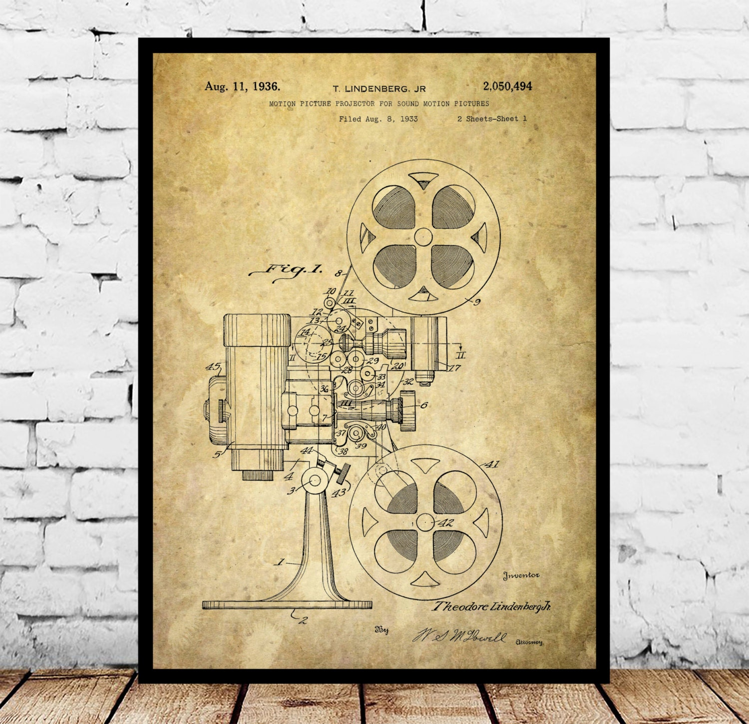 Motion Picture Projector Print Motion Picture Projector