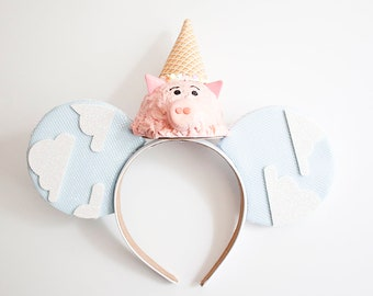 Hamm Mouse Ears / Hamm Toy Story  Mouse Ears / Hamm Headband / Toystory Mouse Ears / Ice Cream Ears