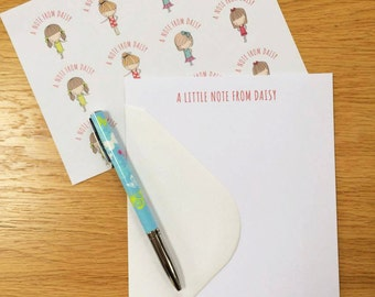 Personalised Notepaper/Writing Set with stickers Best Friends