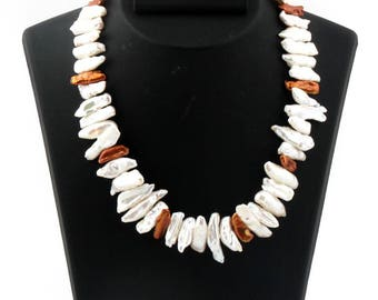 Natural Pearls Necklace Exclusive Quality beautiful Evening Necklace for her
