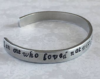 """Shakespeare Cuff Bracelet - """"I am one who loved not wisely but too well"""""""