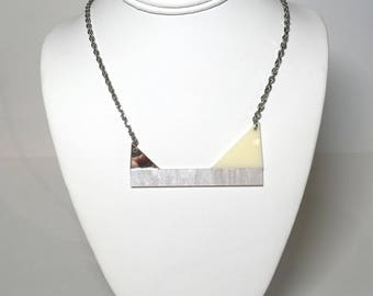 Pearlescent, Off-White and Mirrored Pendant