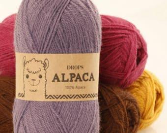 Plain Alpaca from DROPS, 16 colors to choose from, 100% alpaca, 50 grams 167 meters