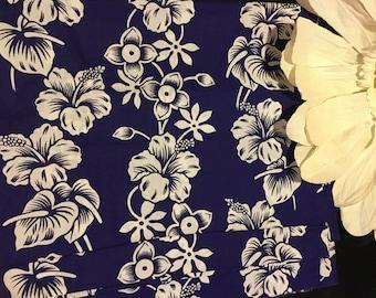 Rare Hawaiian 60s Deadstock Fabric - Up to 3 Yards - FREE USA SHIPPING