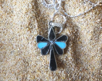 Sterling Silver and Enamel Pendant with Sterling Chain