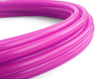 """Polypro Hula Hoop 11/16"""" Translucent UV Fuchsia // Collapsible for Travel- Push Pin Connection-Sizes 22""""-38"""""""