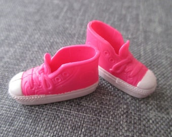 barbie Doll shoes pink high cut sneakers running shoes