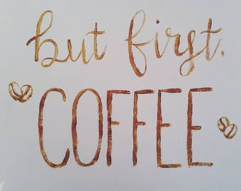 Painted Canvas Coffee Sign