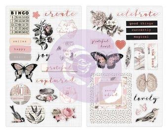 Prima Marketing Inc - Amelia Rose - Chipboard Stickers