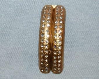 Rhinestone Dress Clip, Art Deco Clear, Bridal Wedding Sparkling, Vintage old jewelry