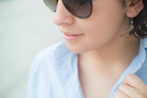 14K REAL Solid Rose Gold Nose Ring Snug Fitting Solid Rose
