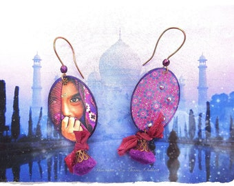 "Earrings ""Indian Arabian night"""