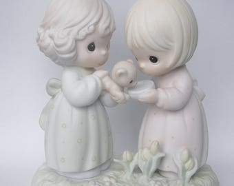 "Precious Moments ""I'm So Glad That God Has Blessed Me With A Friend Like You"" Porcelain Figurine - Enesco - Vintage Collectible - Retired"