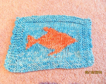 Goldfish in Blue Waters Dishcloth