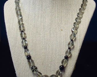 Translucent grey stones accented with black