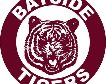Bayside Tigers iron on decal