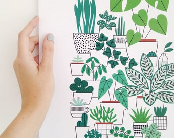 A3 Houseplants print
