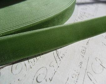 Moss Green 5/8 Velvet Ribbon