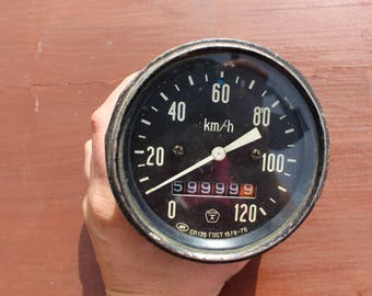 Soviet speedometer Vintage speedometer Soviet car parts Car accessories Vintage car parts Vintage gauge Old car parts Old speedometer