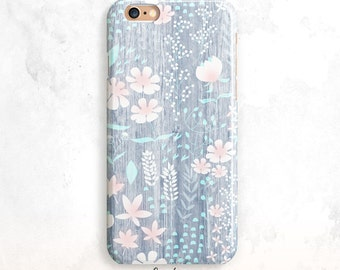 iPhone 8 cas, Floral pour iPhone X, bois iPhone 7 cas, iPhone 6 Plus, iPhone 5 cas, motif Floral iPhone 6 cas, iPhone Floral 7 cas