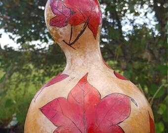Gourd Art-Red Leaves