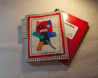 Refillable  Canvas Fabric Composition Notebook Cover