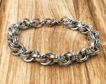 Double Spiral Chainmaille Bracelet