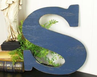 Rustic Wooden Letter 12 inch Letter Wall Art Rustic Home Decor Gallery Wall Art Wedding Letter Photo Prop Letter Wall Decor Wood Letter Sign