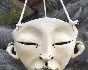 Hanging Ceramic Face Planter - Mystic