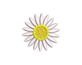 DAISY FLOWER - machine embroidery design - Instant Download