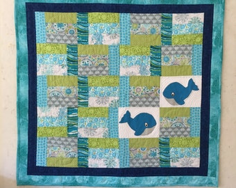 Baby Quilt Whales