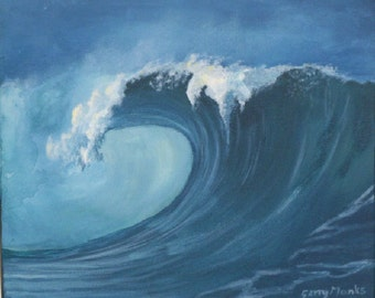 SEASCAPE. WAVE PAINTING in Acrylic.