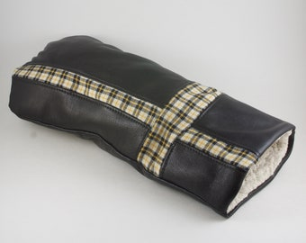 Black And Yellow Leather Flannel Golf Club Cover