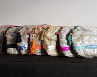 Ganse sequin Kit inside Wax / rhinestones / tassel