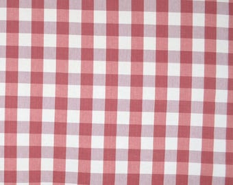 DL72 Lyme Strawberry Red Cream 1.5 inch Check  Fabric