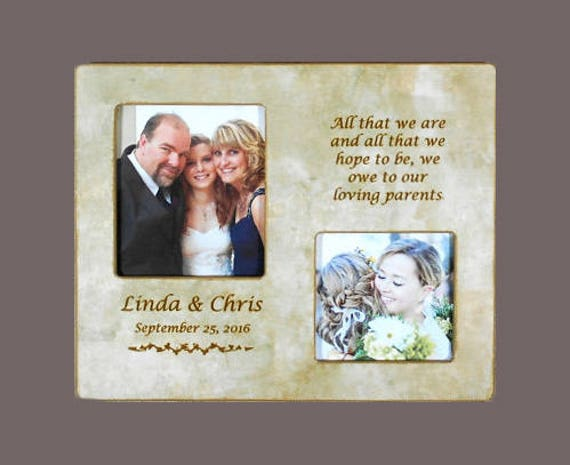 WEDDING GIFT PARENTS-Bride and Groom Parents Personalized Parent ...