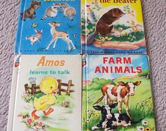 4 Rand McNally Elf Vintage Books - 1950's