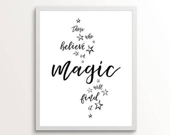 Roald Dahl Quote, Believe In Magic, Believe In Magic Print, Those Who Don't Believe, Quote Printable, Roald Dahl, Roald Dahl Poster, Quote