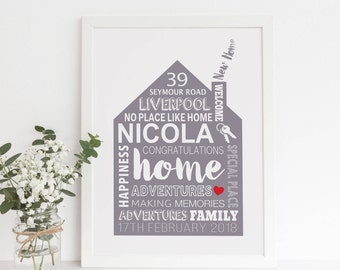 New Home, Our First Home, Unique Gift Ideas For Friends, Family Established, Home Sweet Home, Personalised Family, New Homeowner, Home Decor