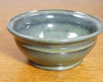 Handmade Pottery Bowl, Small Bowl, Serving Bowl, Green Bowl,0734