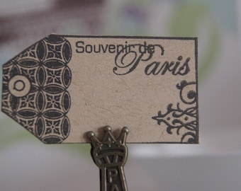 20 labels KRAFT PARIS approximately 5X2.5 cm
